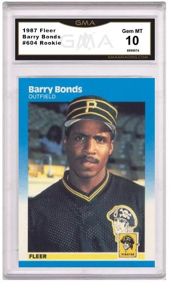 Barry Bonds rookie card Fleer