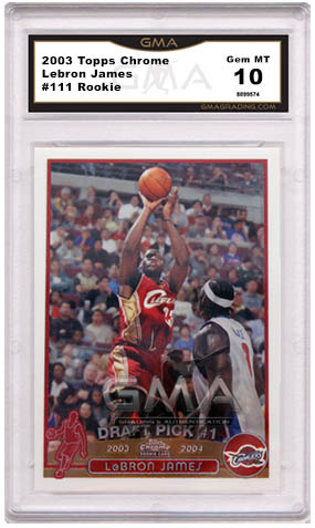 Top 10 Lebron James Rookie Cards Basketball Cards