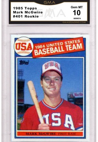 Mark Mcgwire Rookie Card Value