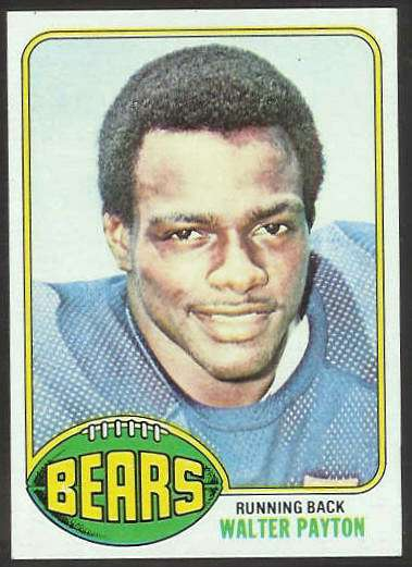 Walter Payton Rookie Card And Football Card Gallery