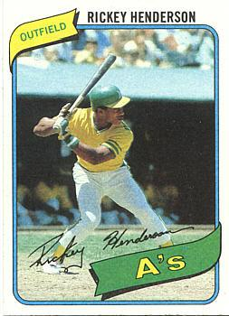 Value Of Rickey Henderson Rookie Card And Baseball Cards