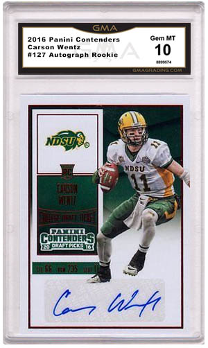 0bc3c6bd1ed Carson Wentz Rookie Cards, What to Buy and How Much to Pay